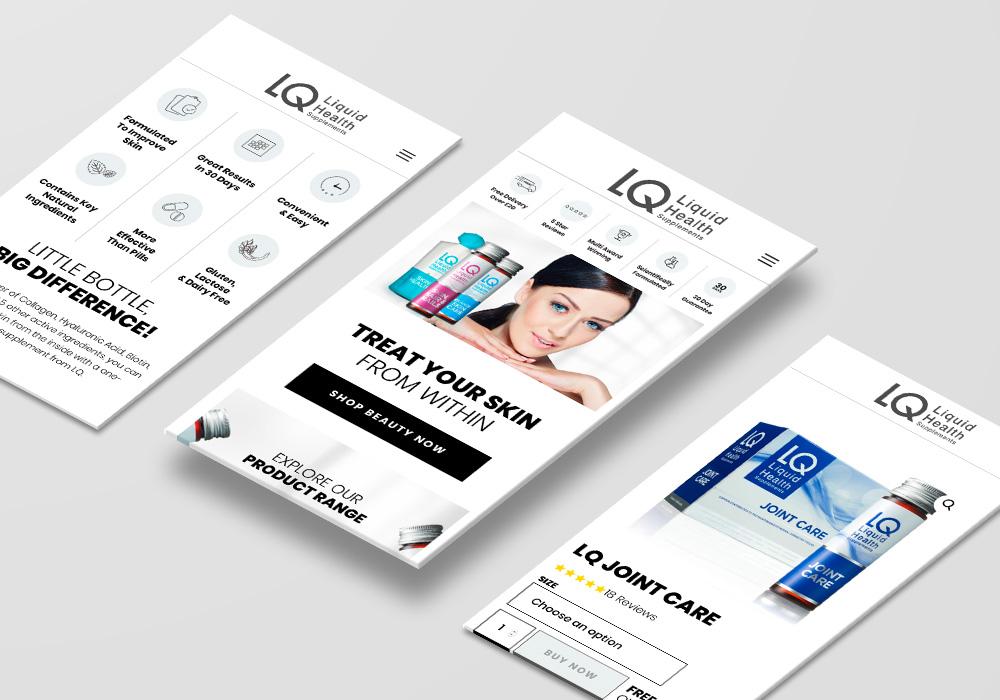 LQ Liquid Health website